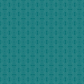 Delicate Geo Lace on Turquoise