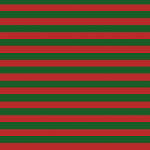 Stripes Dark Red & Green