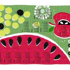 2021 fruit tea towel calendar