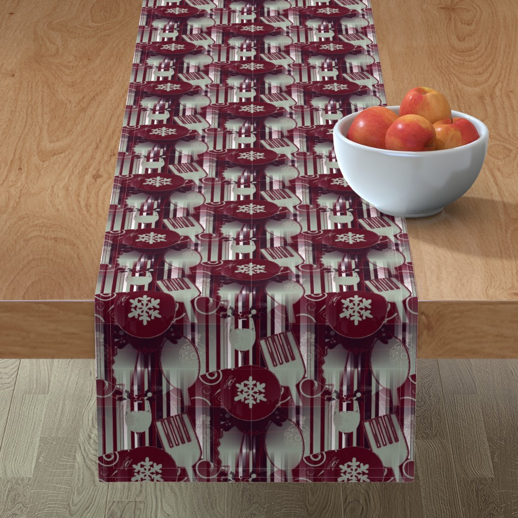 Minorca Table Runner featuring Winter Dining by floramoon