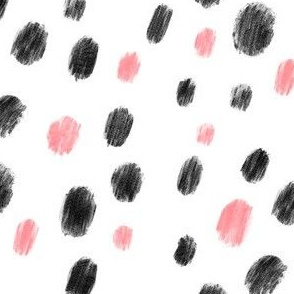 Pink and black dots - Big pattern