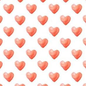 Rose Watercolor Hearts Pattern