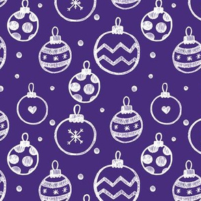 Christmas Decorations violet seamless pattern