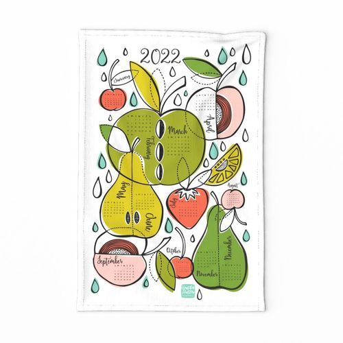 2020 Calendar Tea Towel - Fruit Salad