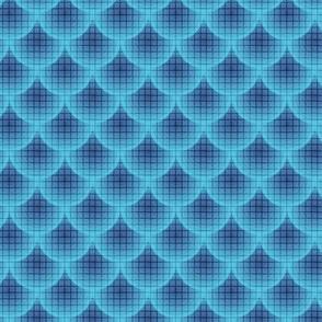 16-05J Nautical Boy Blue Clouds Scales || Texture Ocean water Mermaid _Miss Chiff Designs
