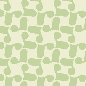 Letterform - r - green