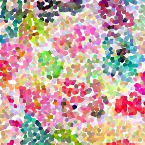 Pointillism Inspired Floral Print - Small