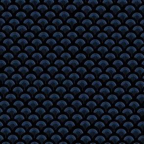 Scales, Blue Grey on Black