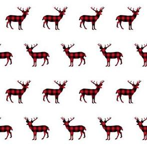 buffalo plaid deer trees deer deer silhouette christmas deer
