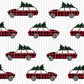 christmas wagon christmas red and green plaid fabric green plaids wagon christmas trees on wagons