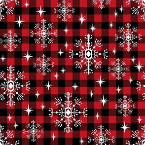 buffalo plaid snowflakes winter christmas fabric snowflakes christmas plaid christmas fabric