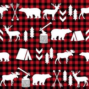 buffalo plaid woodland christmas winter fall cabin print