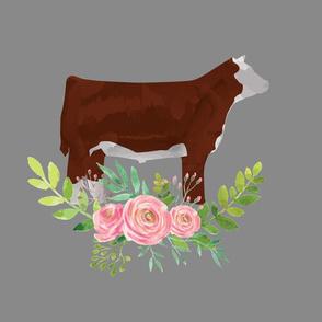 Hereford cattle steer fat quarter