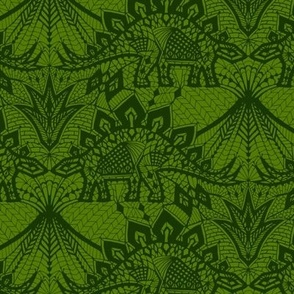 Stegosaurus Lace - Green