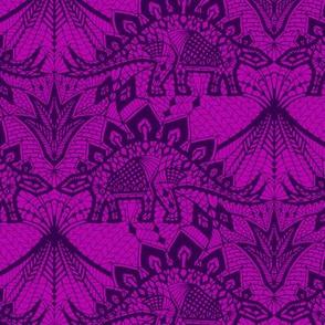 Stegosaurus Lace - Purple