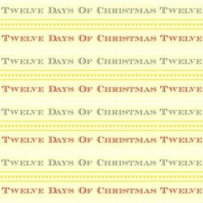 Twelve Days Of Christmas Text