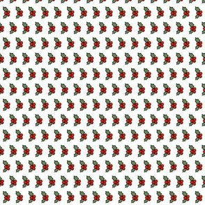 Holly Berries on White - Twelve Days of Christmas collection