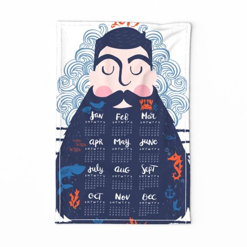 2019 Hipster Captain Tea Towel Calendar