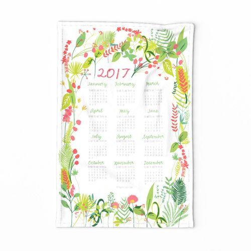 Garden Foliage 2017 Tea Towel