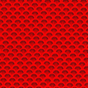 Scales Black on Red