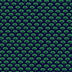 Scales, Green on Navy