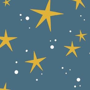 Stars in smoky blue