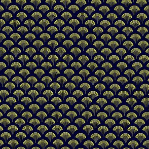 Scales, Yellow on Navy