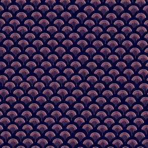 Scales, Pink on Navy