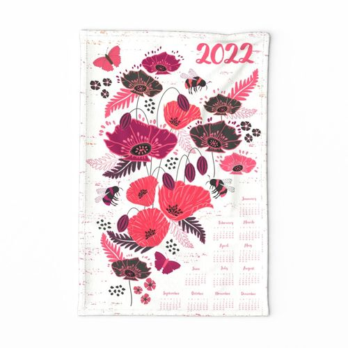 Poppies and Bees 2020 Calendar