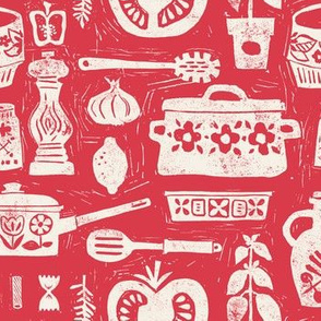 Pots and Pans - red
