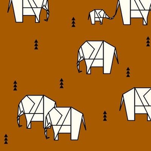 Geo elephants - rust || by sunny afternoon
