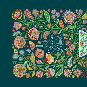 I Must Have Flowers-2020 Tea Towel Calendar