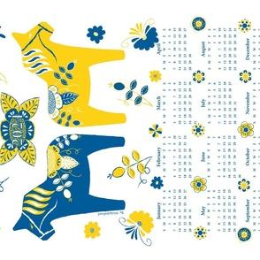 Craftsmen Square Roses Tea Towel 2020 Pink Yellow White