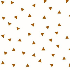 Triangles - rust on white small triangles scaterred || by sunny afternoon