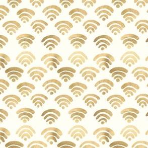 Gold Wifi Pattern