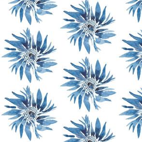 Garden of Blue Flowers