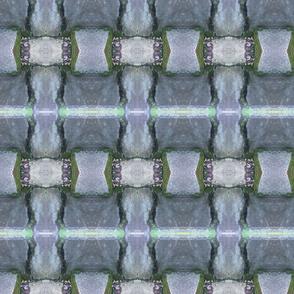 stone basket checkered stripes
