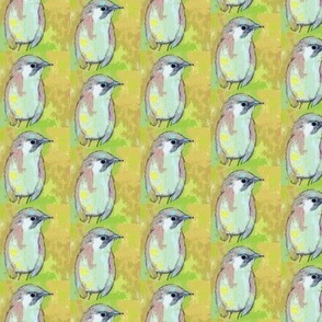 Birdwatching Bird in Green Olive