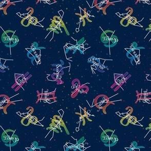 Craftsmen Round Roses Tiles Black Yellow Pink