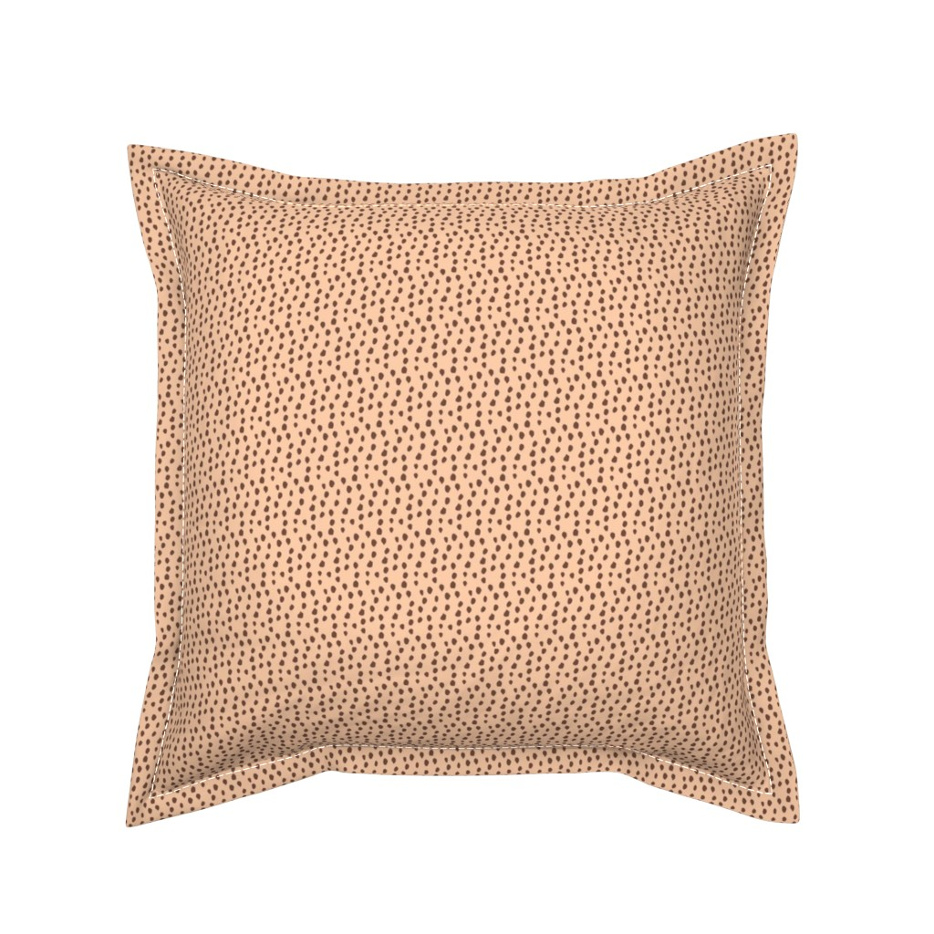 Serama Throw Pillow featuring Camel & Brown Animal Print by colettegorgas
