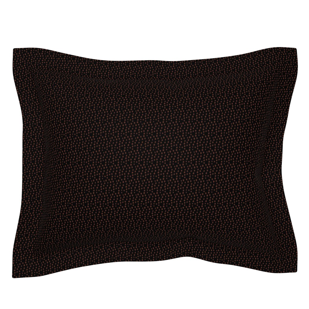Sebright Pillow Sham featuring Colette's Black and Bronze Animal Print by colettegorgas