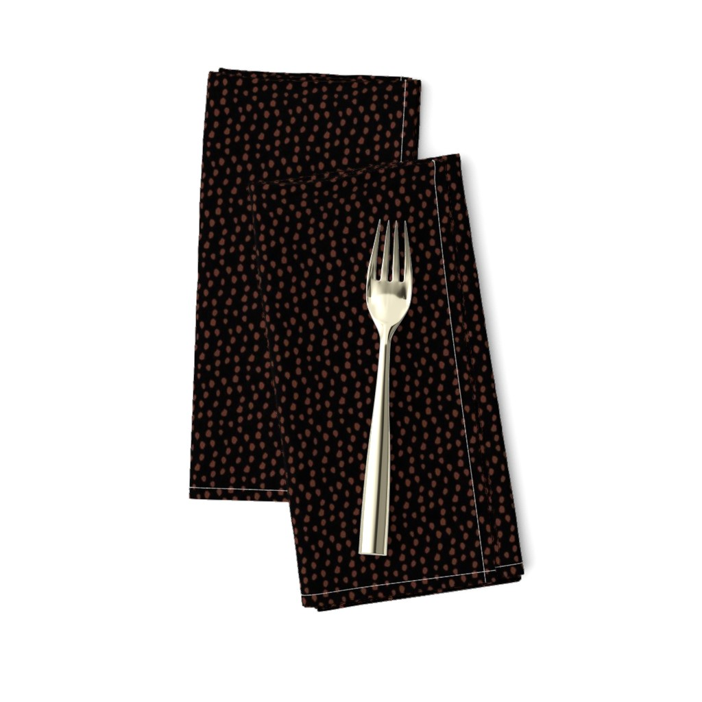 Amarela Dinner Napkins featuring Black and Bronze Animal Print by colettegorgas
