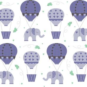 Hot Air Balloon Purple Mint