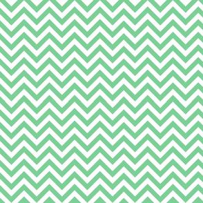 Mint Chevron Pattern