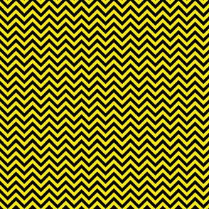 Chevron Black and Yellow Pattern