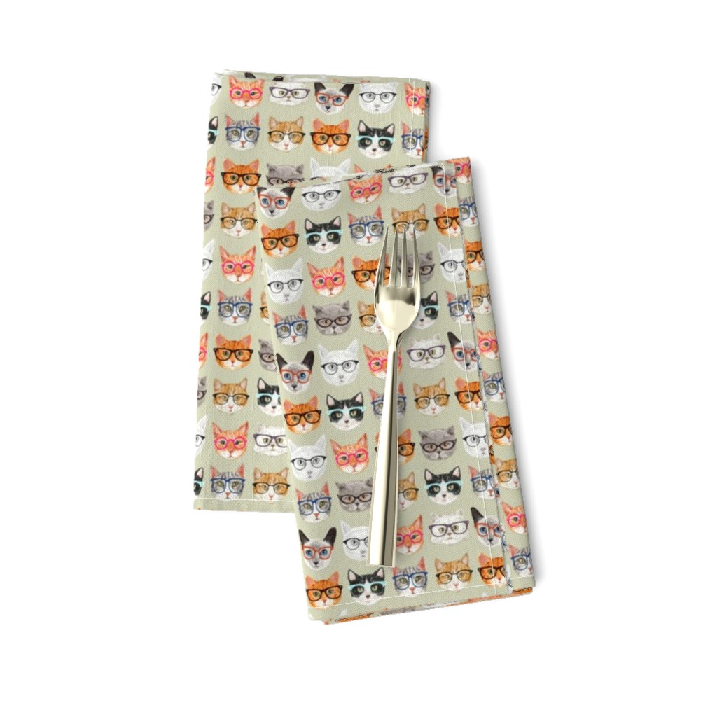 Amarela Dinner Napkins featuring Spectacular Cats by cynthia_arre