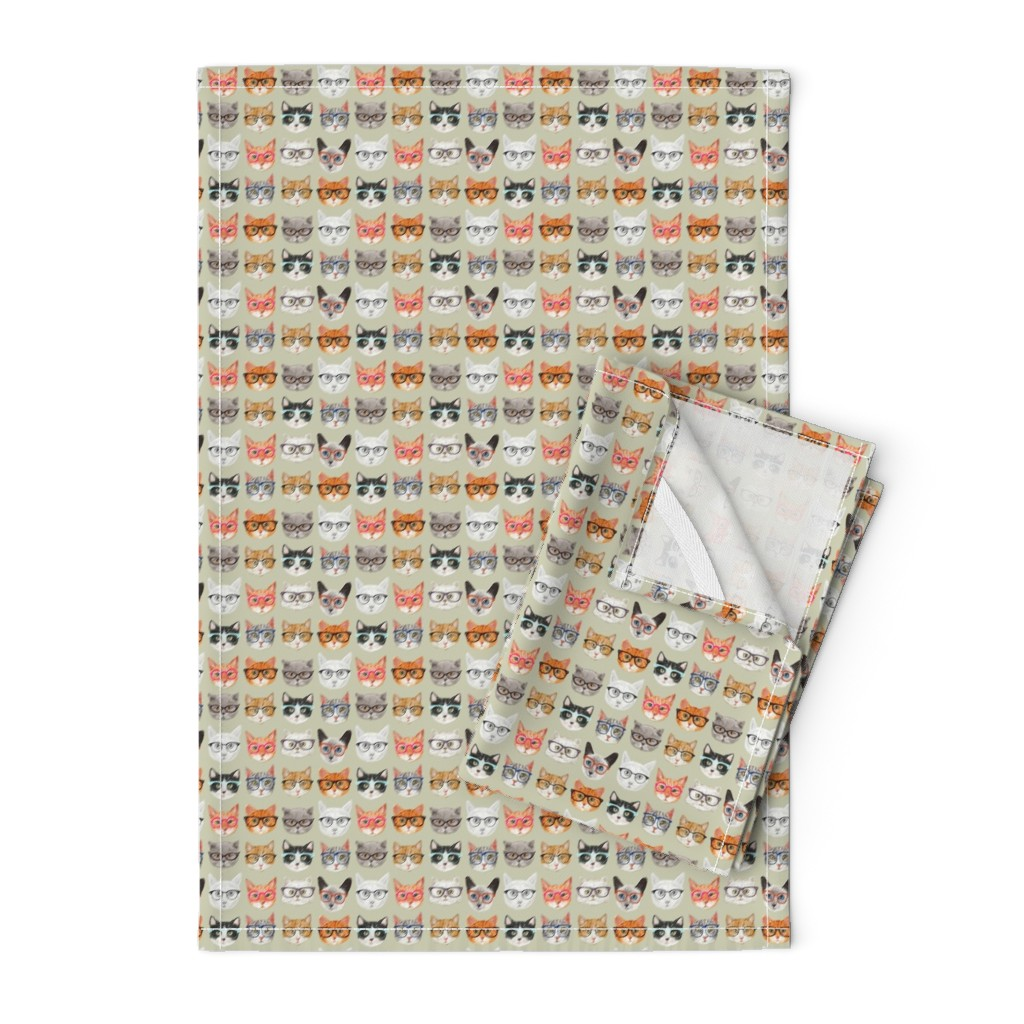 Orpington Tea Towels featuring Spectacular Cats by cynthia_arre