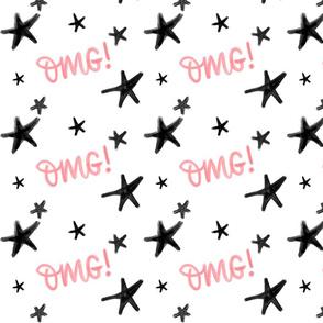 OMG stars pink - big pattern