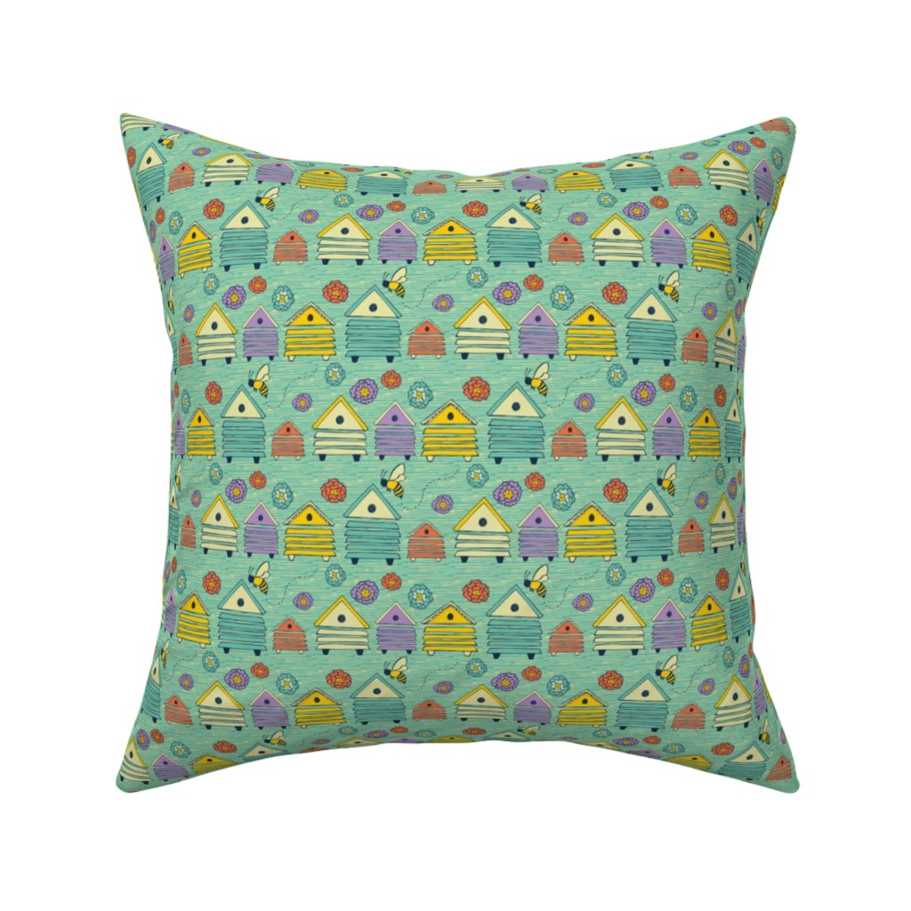 Catalan Throw Pillow Featuring Honey Bee Home By Jacquelinehurd
