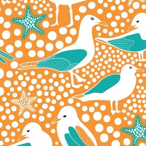 Sea Birds Orange
